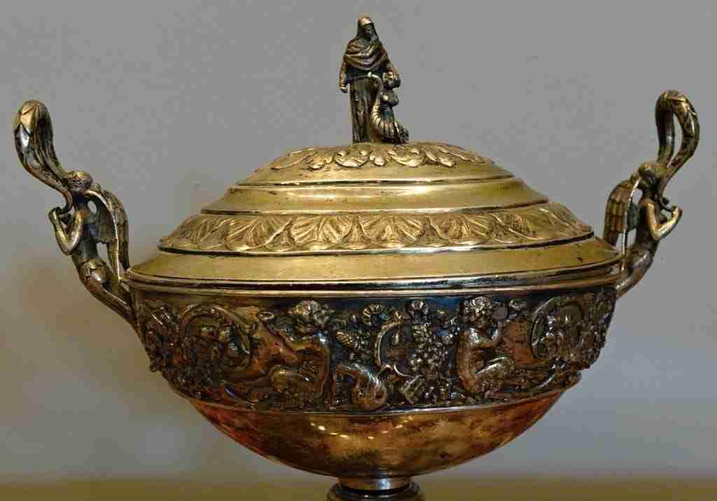 Coppa argento punzonato Hanau Germania