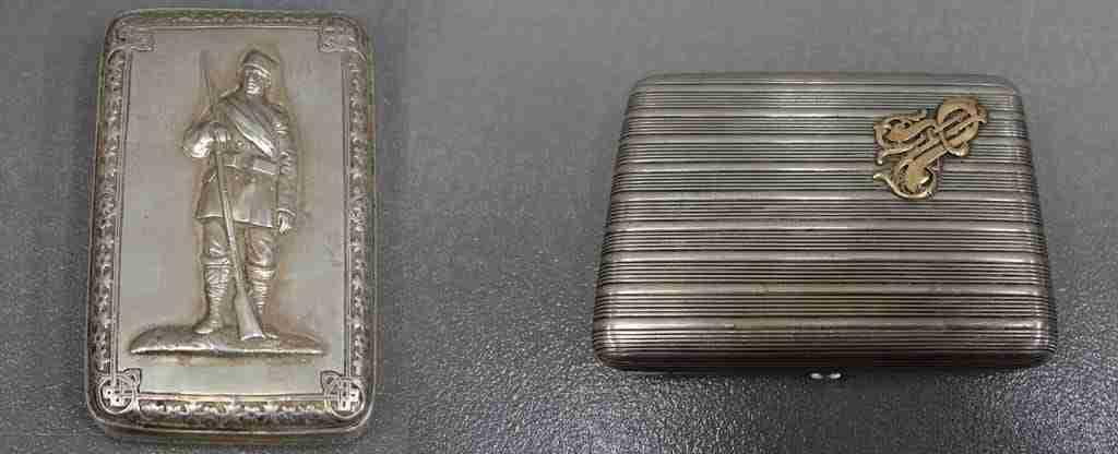 Scatola scatole tabacchiere in argento russo