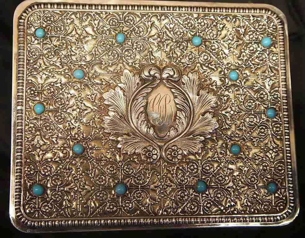 Scatola cofanetto portagioie in argento