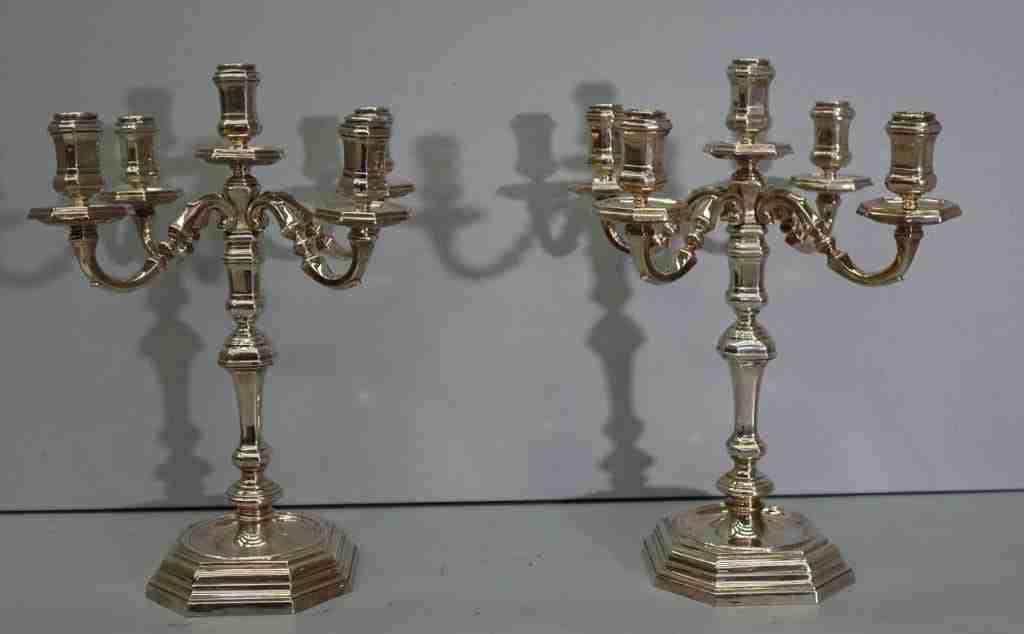 Coppia candelieri argento 800 punzonato 971 AL