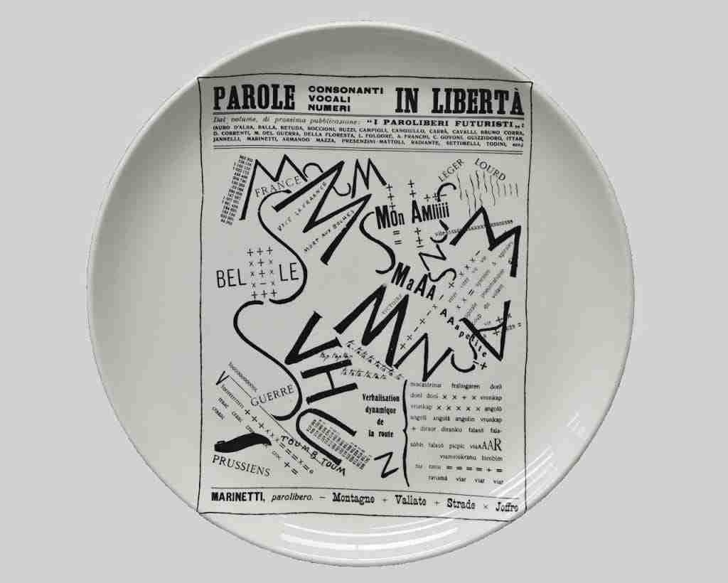 Ceramica piatto fornasetti milano 0618032