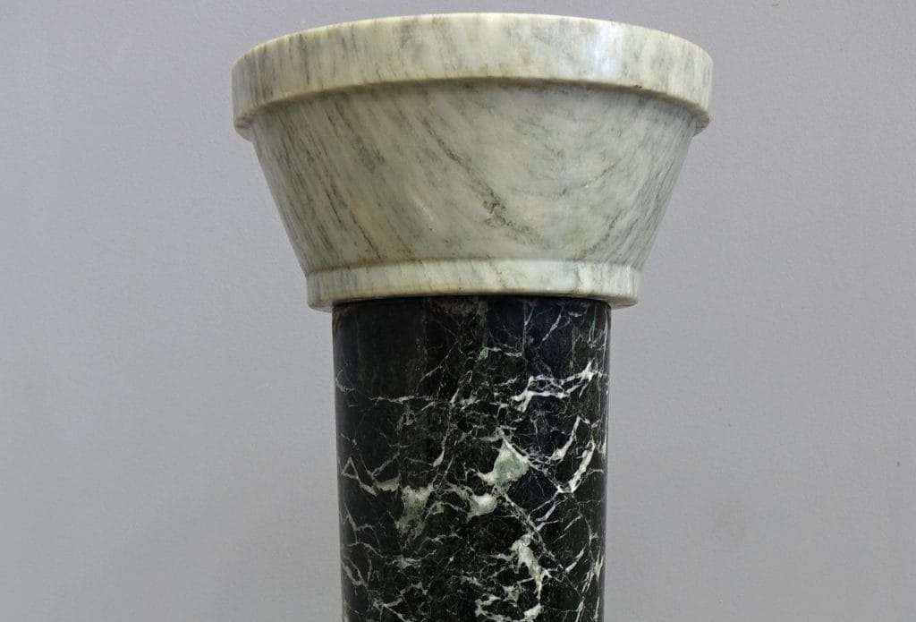 Colonna marmo verde alpi portastatua  0760058