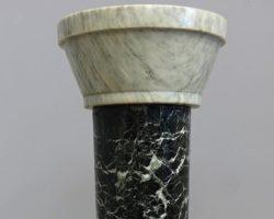Outlet - Colonna marmo verde alpi portastatua - Liquidazione/Svendita