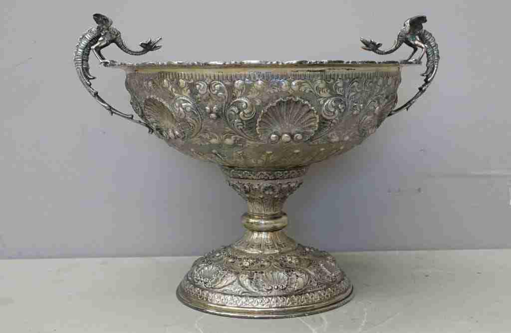 Coppa Centrotavola in argento punzonato 800