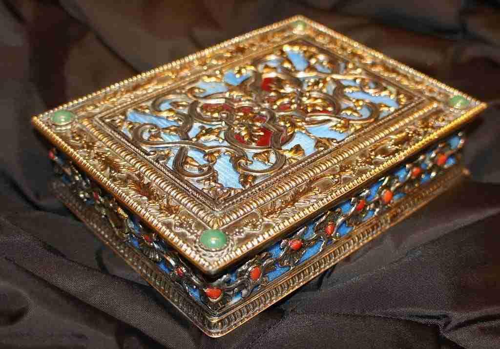 Cofanetto scatola in argento faberge