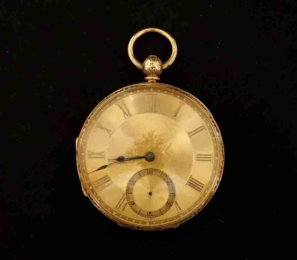 Orologio da tasca in oro inglese vittoriano