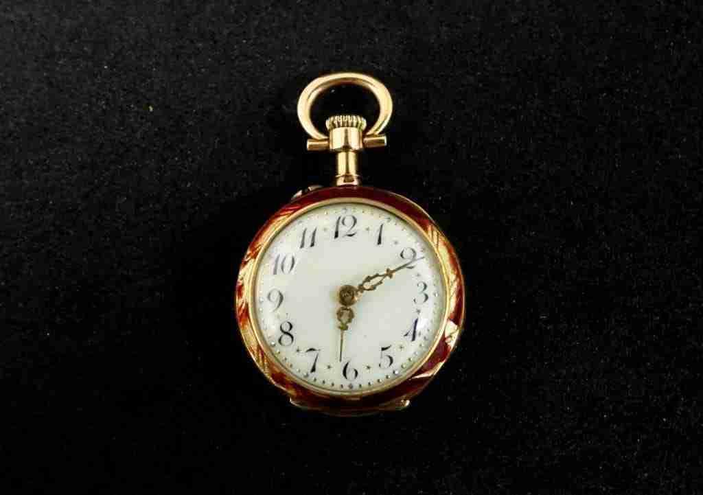 Orologio da tasca LeCoultre smalti e oro