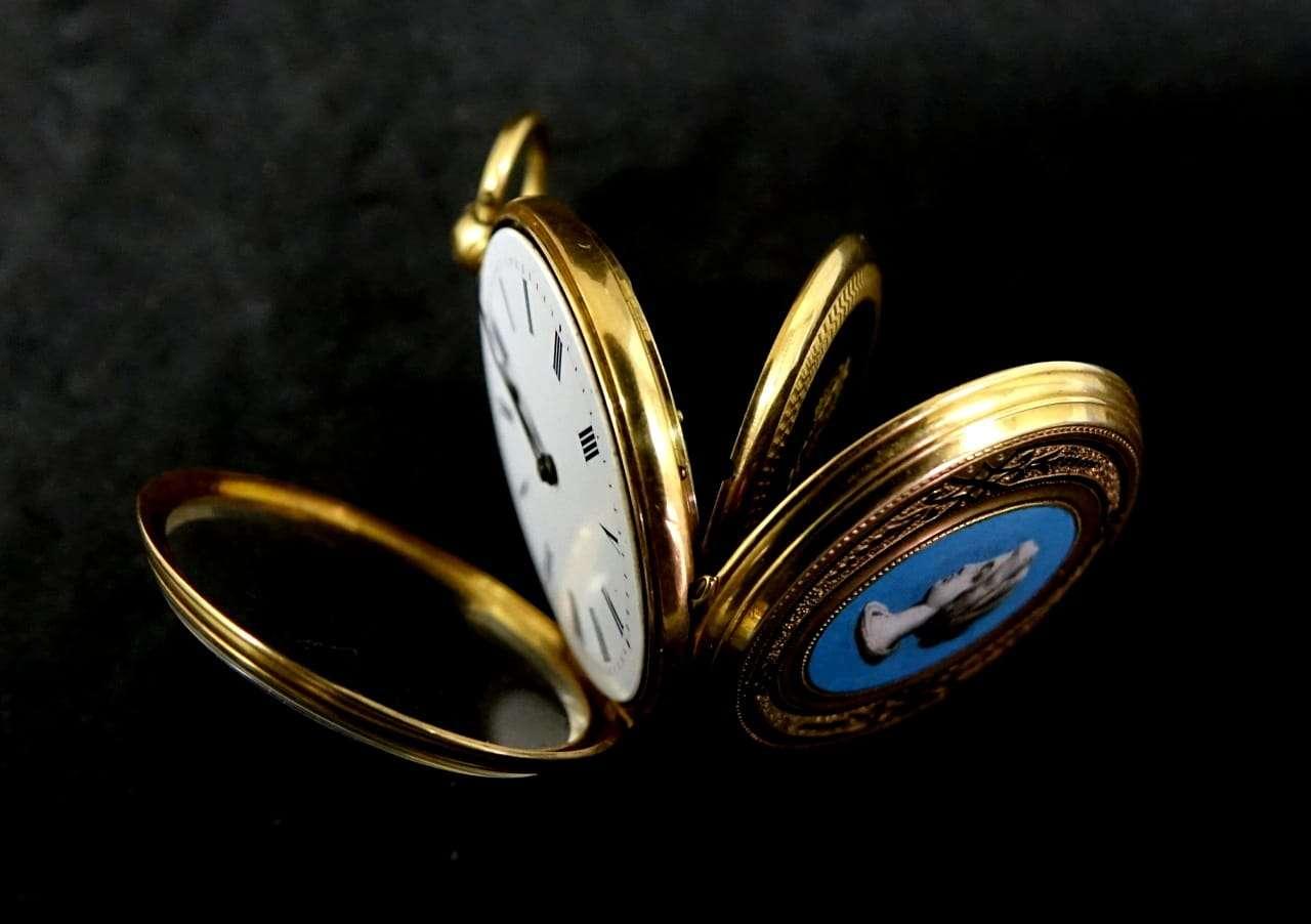 Orologio da tasca Ancre oro 18k epoca 800