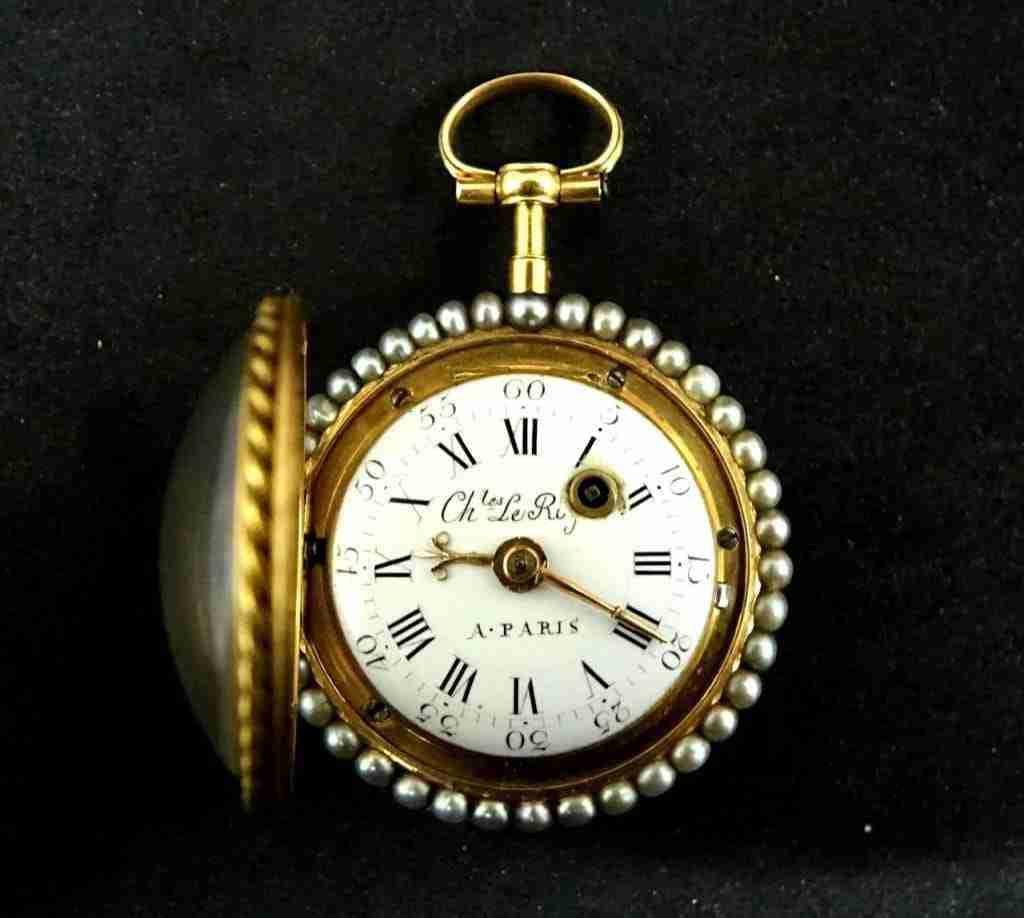 Orologio da tasca Charles le Roy Paris oro e smalto