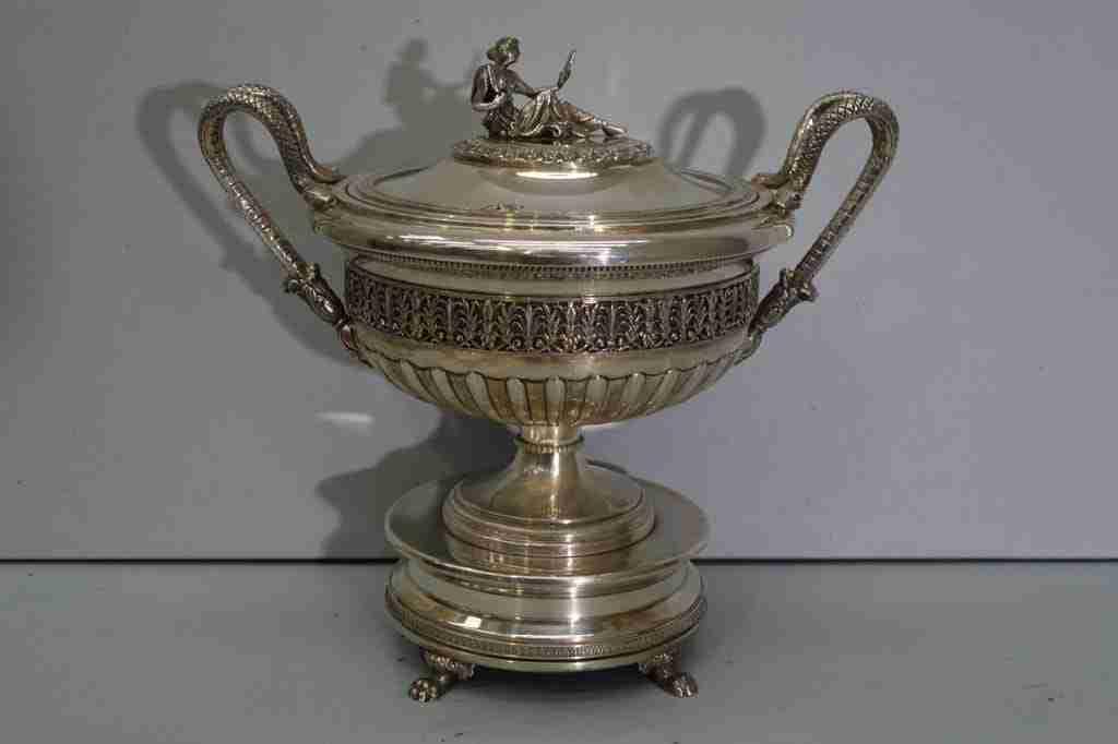 Vaso coppa argento punzonato 800