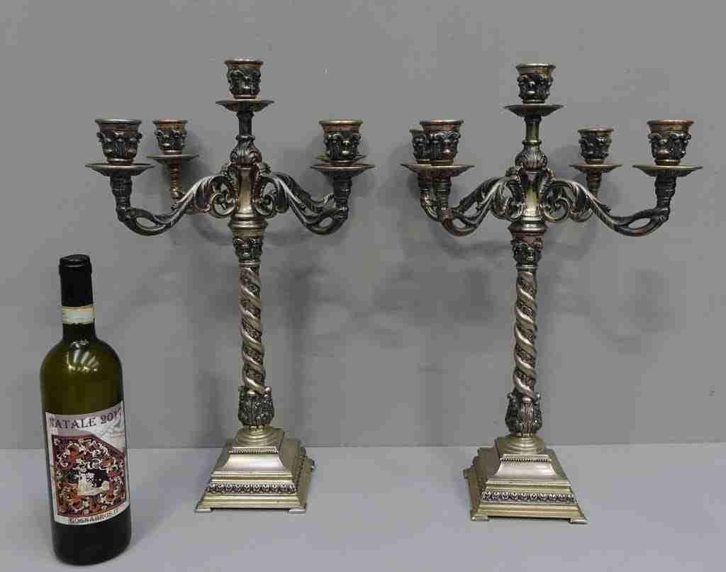 candelieri argento candeliere peso 6,185 kilogrammi
