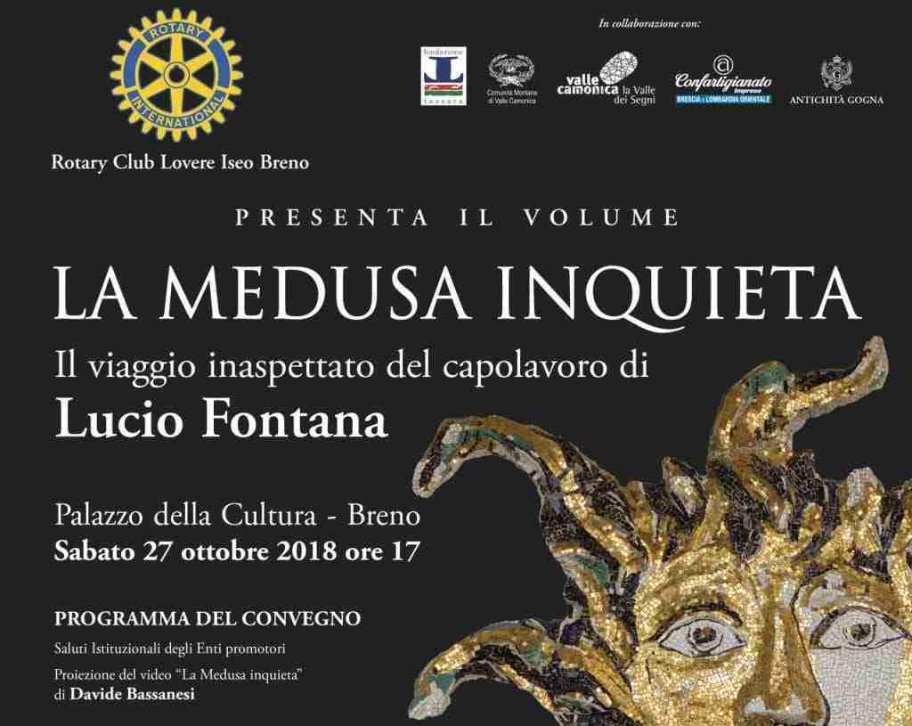 """presentazione libro """"LA MEDUSA INQUIETA"""" Il viaggio inaspettato del capolavoro di Lucio Fontana"""
