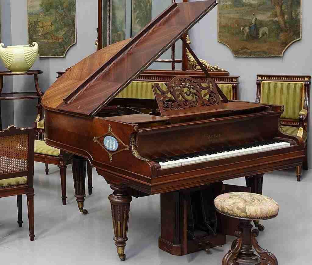 pianoforte quarto di coda Gaveau Paris Wedgwood e bronzo autopiano 0370005