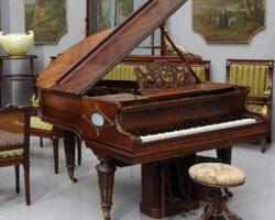Pianoforte quarto di coda Gaveau Paris Wedgwood e bronzo autopiano