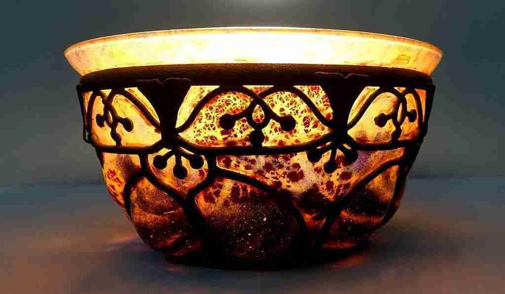 Vaso art nouveau vetro Louis Majorelle – Daum Nancy