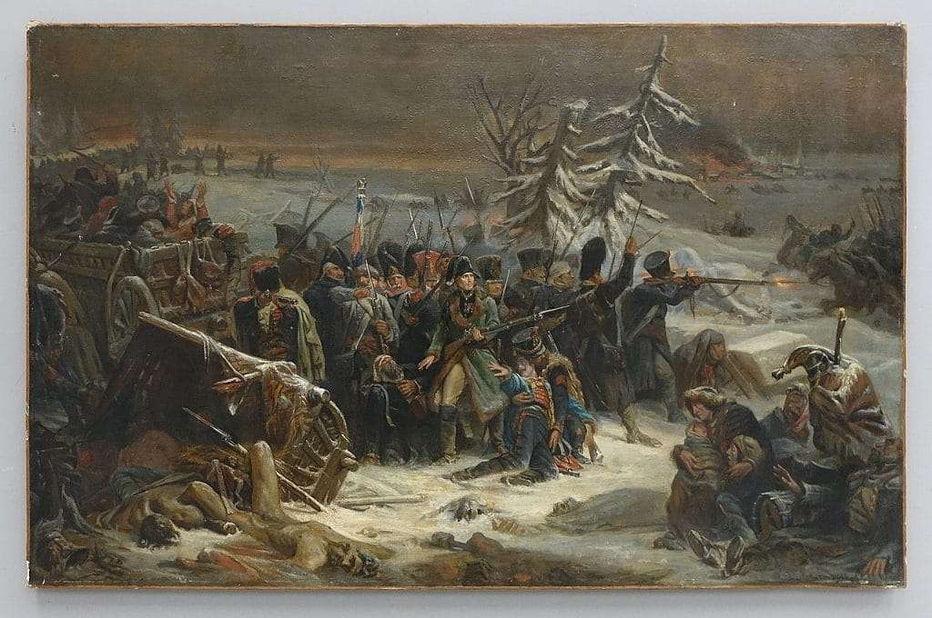 Dipinto olio Adolphe Yvon – Il maresciallo Michel Ney a Krasnoi