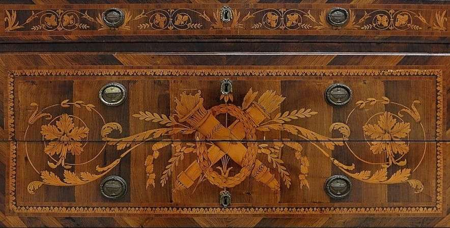 Como' intarsiato cassettone Luigi XVI Neoclassico 1189003