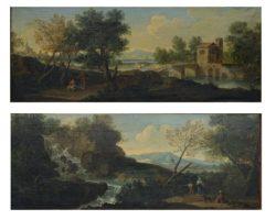 Coppia dipinti paesaggio Giuseppe Bottani