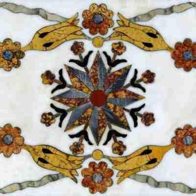 Piani in commesso fiorentino Opificio delle Pietre Dure - marmi intarsiati policromi Firenze