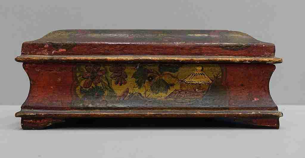 Dipingere Portagioie Di Legno : Scatola portagioie in legno laccato e decorato a cineserie u2013 venezia