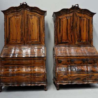 A pair of colonial brazilian rosewood bureau-cabinets second half 18 century