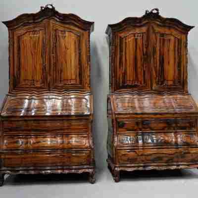 A pair of colonial brazilian rosewood bureau-cabinets second half 18 century