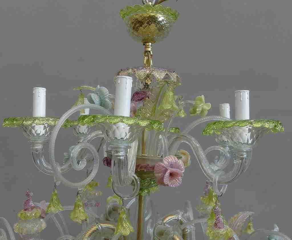 Ricambio lampadario vetro murano venezia venice decorazione