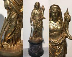 Sconto 50% Scultura in bronzo dorato Demetra Abbondanza -  Benedetto Boschetti