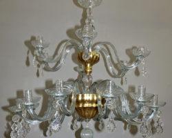 Lampadario in vetro soffiato – vetrerie di Empoli