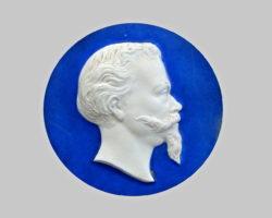 Miniatura ritratto profilo Re Vittorio Emanuele II marmo
