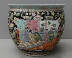 Cachepot vaso giapponese porcellana policroma