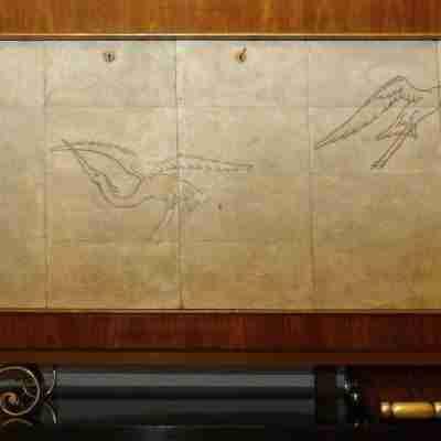 Credenza Galuchat art deco' sideboard design