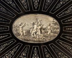 Tavolo scrittoio firmato e datato Giovanni Battista Gatti 1878 - committente William Gilstrap