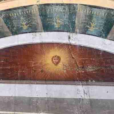 Sconto 50% Dipinto tempera su tela soffitto Filippo Comerio (attr.)