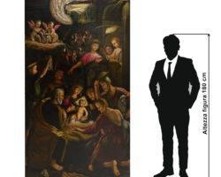"""Antonio Campi pala d'altare """"Natività con pastori"""" - XVI secolo"""