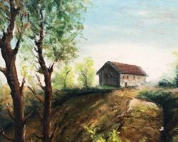 Dipinto ad olio paesaggio firmato Giani A.