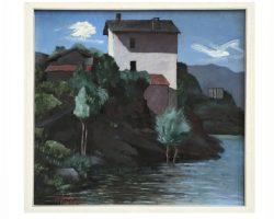 Gigi Cuniolo dipinto raffigurante Lago Maggiore