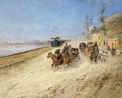 Francesco Lord Mancini - Francesco Mancini - Strada da Torre Annunziata a Pompei, 1892