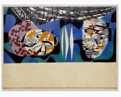 """Antonio Scordia dipinto raffigurante """"La Pesca"""""""