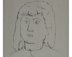 Disegno Arturo Martini - Ritratto 1926