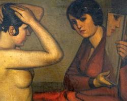 Dipinto olio su tela firmato e datato 1928 Giorgio Crovetti