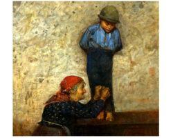 Luigi Nono Dipinto olio su tela