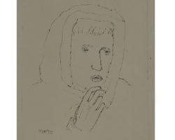 Arturo Martini - Testa di donna 1926 - Disegno