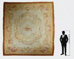 Grande tappeto aubusson francese epoca '700