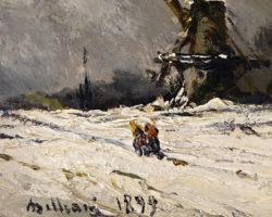 Lorenzo Delleani 1899 - dipinto su ceramica