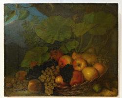 Dipinto natura morta con frutta
