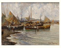 Fausto Pratella dipinto ad olio Marina