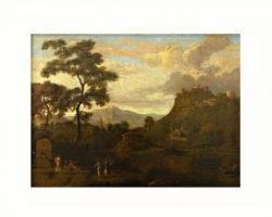 Dipinto olio su tela raffigurante paesaggio