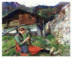 Andrea Tavernier - Dipinto olio su tela