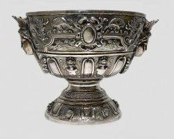Vaso centrotavola coppa in argento 925